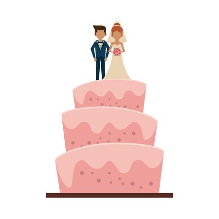 Wedding big cake icon vector illustration graphic design.