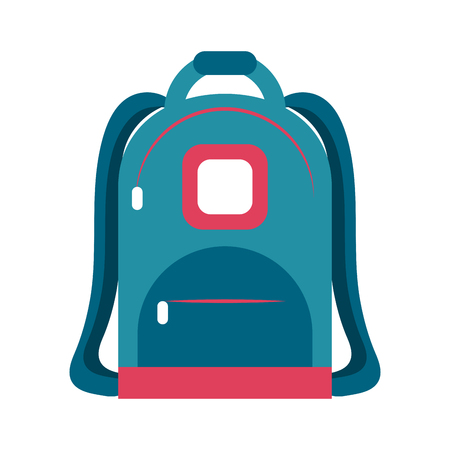 School backpack isolated icon vector illustration graphic design Çizim