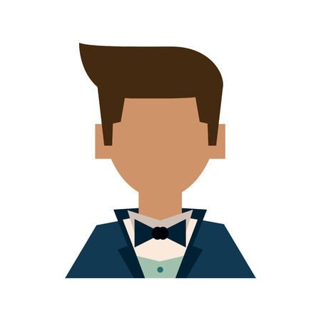 Husband in suit avatar icon illustration graphic design