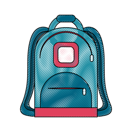 School backpack isolated icon vector illustration graphic design Illustration