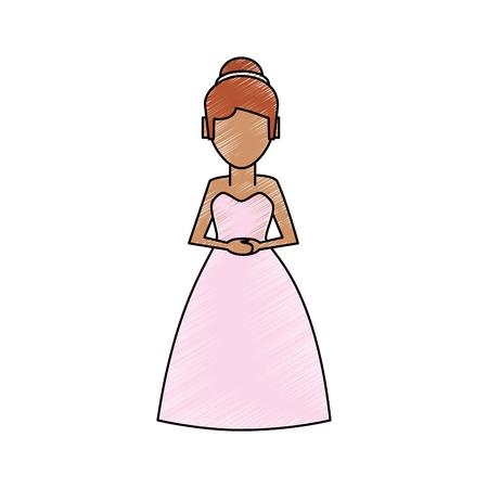 Beautiful bride avatar icon vector illustration graphic design