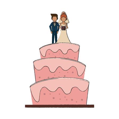 Wedding big cake icon