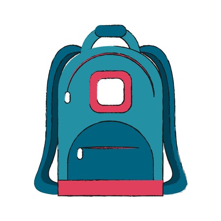 School backpack icon Illustration