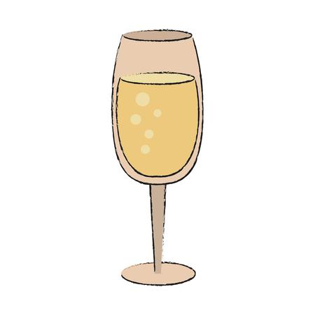 Champagne glass icon vector illustration graphic design Illustration
