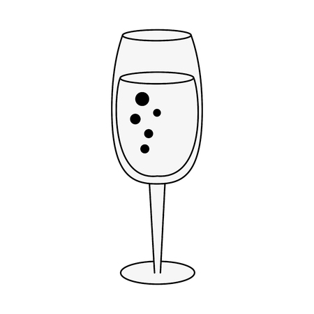 Champagne glass cup icon vector illustration graphic design Illustration