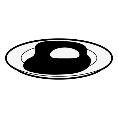 Delicious sunny egg icon vector illustration graphic design