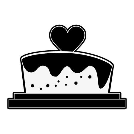 Wedding big cake icon vector illustration graphic design