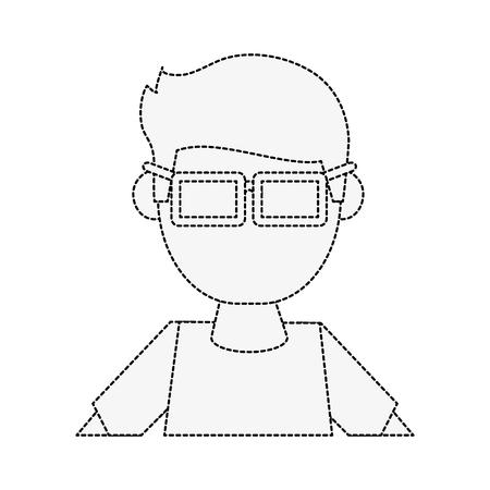 Geek man cartoon icon vector illustration graphic design Illustration