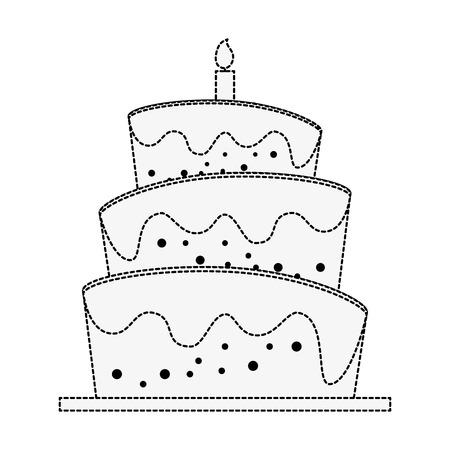 Birthday big cake icon vector illustration graphic design