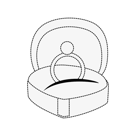 Wedding ring in box icon vector illustration graphic design