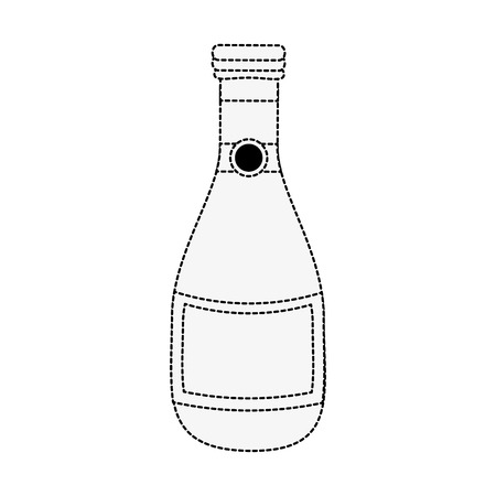Champagne bottle isolated icon vector illustration graphic design
