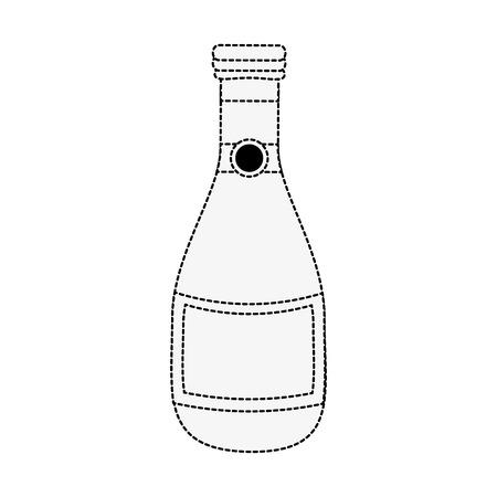 bouteille de champagne isolé icône vecteur illustration graphique