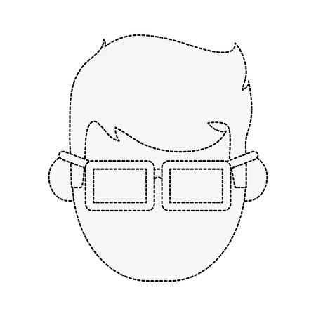 Geek man cartoon icon vector illustration graphic design Illustration