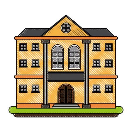 Mansion with columns icon. Vector illustration graphic design.