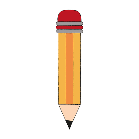 Wooden pencil isolated icon. Vector illustration graphic design.
