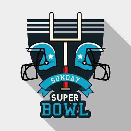 アメリカンフットボールボウルトーナメントアイコンベクトルイラストグラフィックデザイン