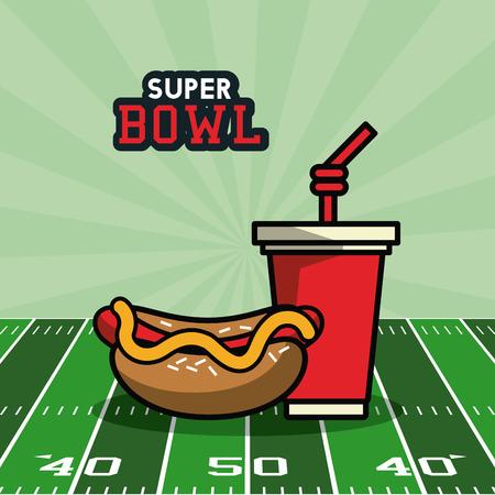 American football bowl tournament icon vector illustration graphic design