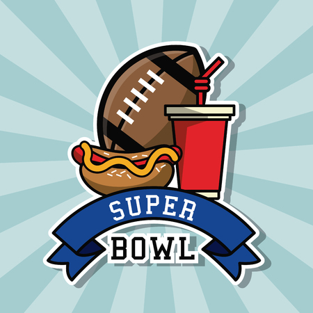 American football bowl tournament icon. Vector illustration graphic design.