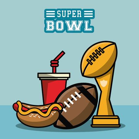 American football bowl toernooi pictogram. Vector illustratie grafisch ontwerp.