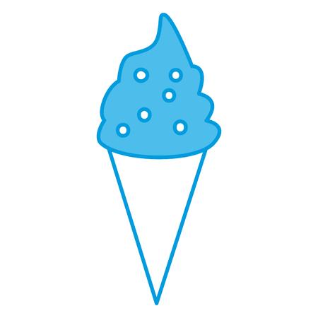 Ice cream cone icon Illustration
