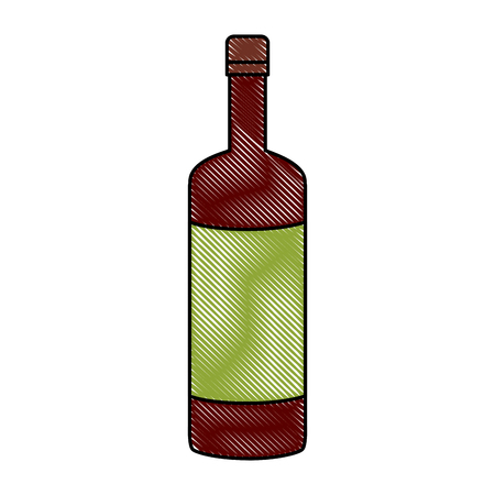 Wine bottle symbol icon vector illustration graphic design