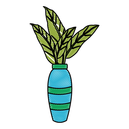 Decorative plant vase icon vector illustration graphic design