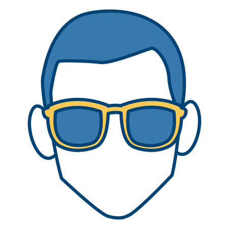 Faceless man with glasses icon vector illustration graphic design