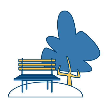 Chair in the park icon vector illustration graphic design