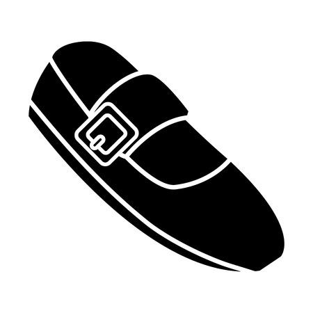 fashion ballet shoe icon vector illustration graphic design