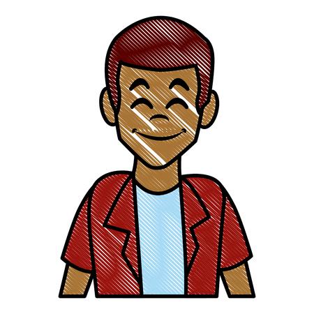 Man profile cartoon icon vector illustration graphic design