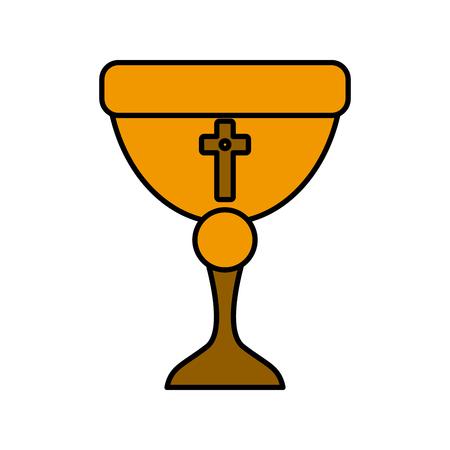 Sacred chalice symbol icon vector illustration graphic design Illustration