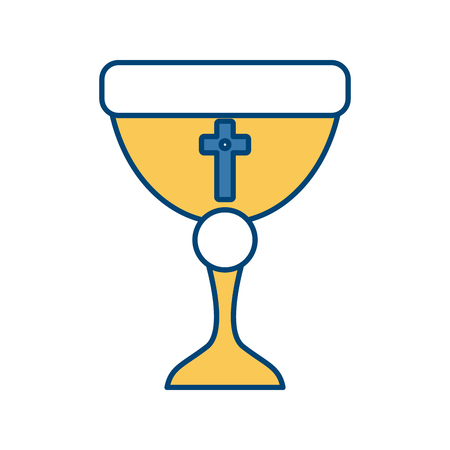 Sacred chalice symbol icon. Vector illustration graphic design.