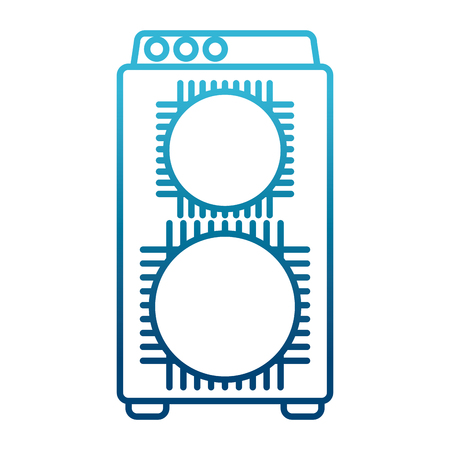 Music amplifier speaker icon. Vector illustration graphic design. Illustration
