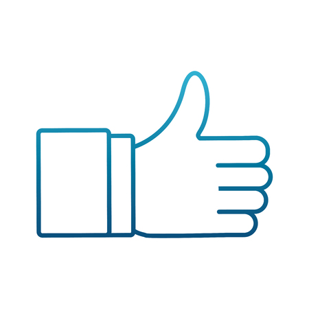 Thumb up like symbol icon. Vector illustration graphic design.