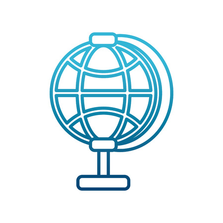 Global sphere symbol icon. Vector illustration graphic design.