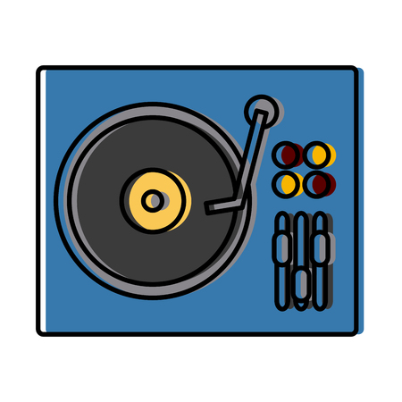 DJ turntable symbol icon. Vector illustration graphic design.