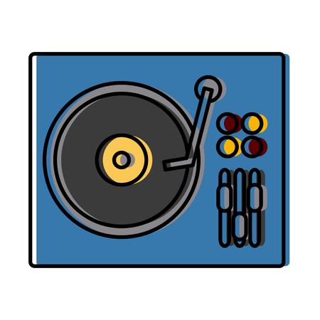 DJ turntable symbol icon. Vector illustration graphic design.