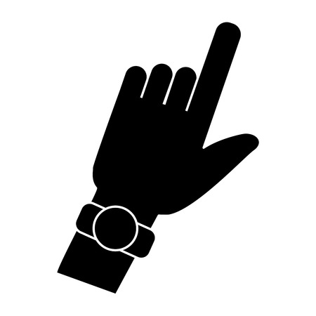 Hand pointing with finger icon. Vector illustration graphic design.