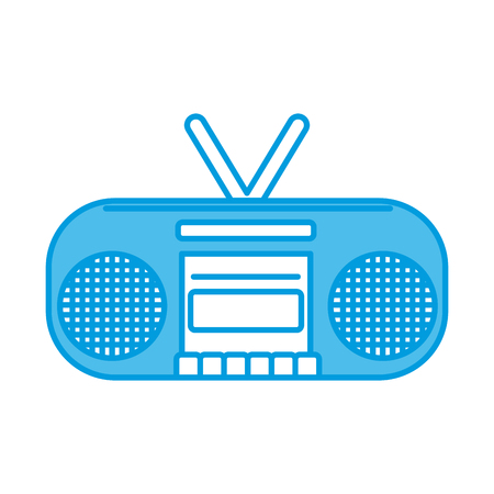 Radio stereo device icon vector illustration graphic design