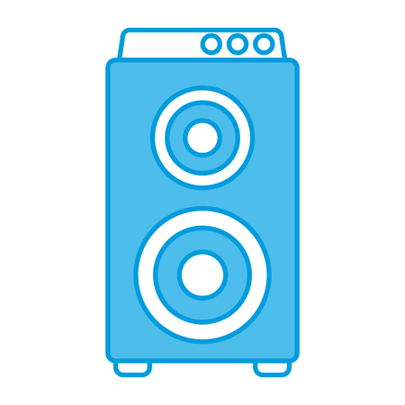 Music amplifier speaker icon vector illustration graphic design