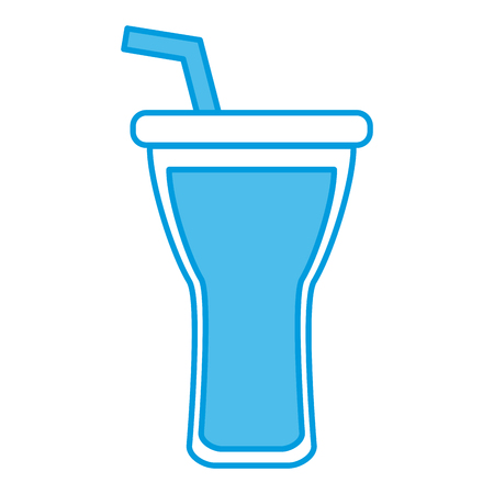 Drink cup with straw icon vector illustration graphic design