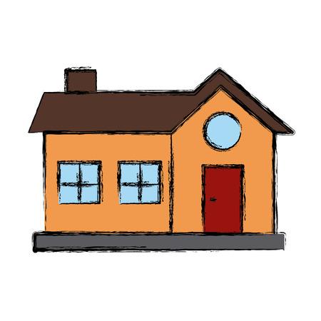 House real estate symbol icon vector illustration graphic design Illustration