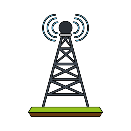 telecommunications antenna symbol icon vector illustration graphic design Illustration
