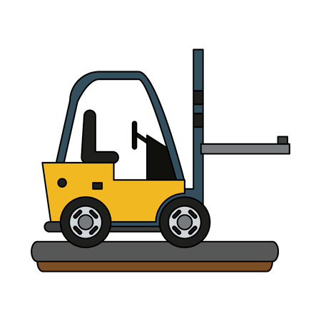 Cargo forklift vehicle icon vector illustration graphic design Vectores