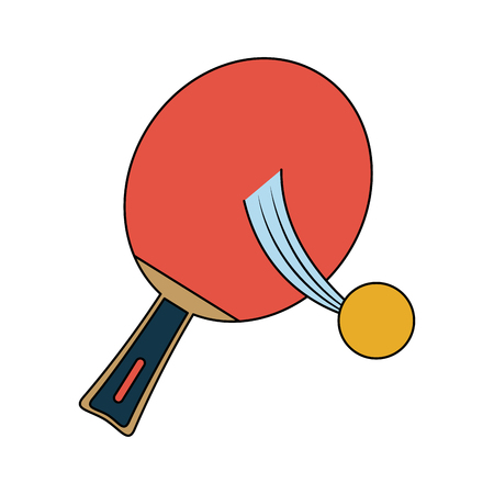Ping pong sport icon vector illustration graphic design Illustration