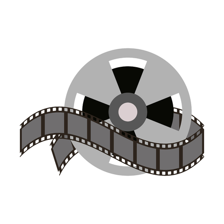Movie roll reel icon vector illustration graphic design