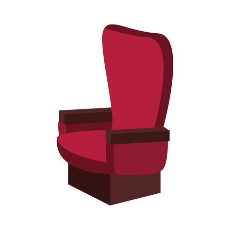Cinema chair isolated icon vector illustration graphic design
