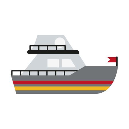 Small boat isolated icon vector illustration graphic design Çizim