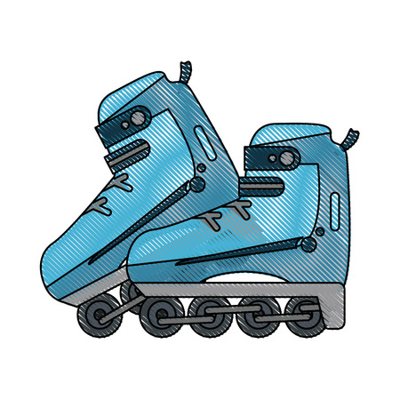 Roller skates isolated icon vector illustration graphic design