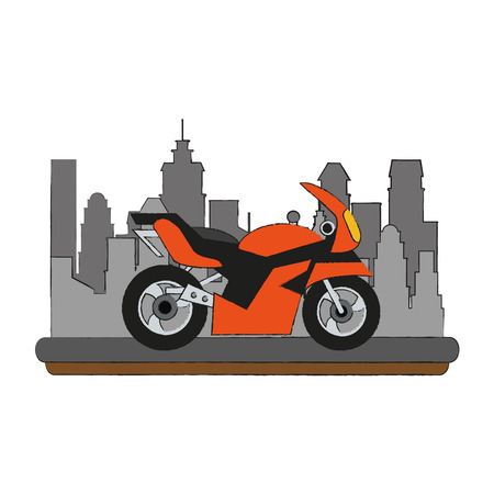Sport racing motorcycle icon vector illustration graphic design Illustration
